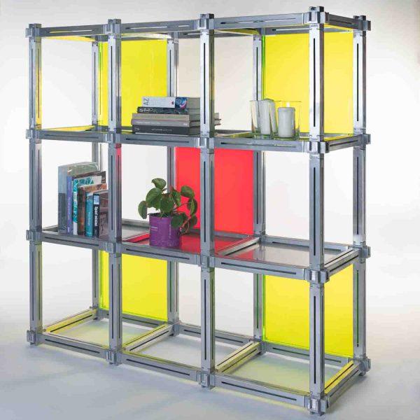 Estantería modular de diseño 9 marcos