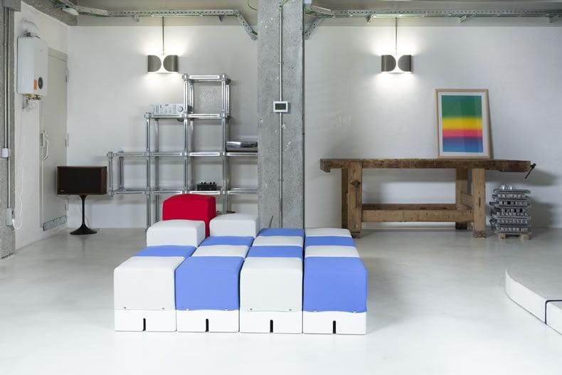 tipos de materiales para sofá modular