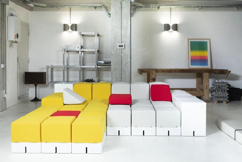 materiales para sofá modular