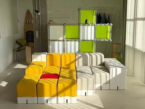 montaje de estantes modulares