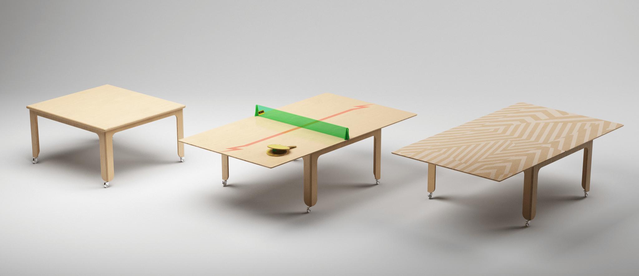 folding table mesa plegable, tavolo pieghevole