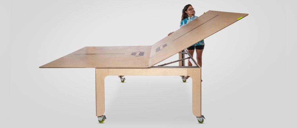 folding table, ping pong table, folding system, modular design, modular table